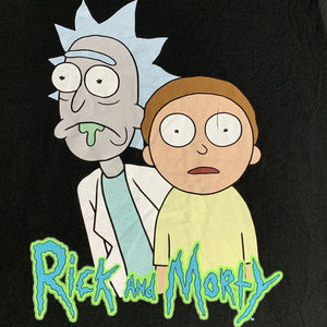 Cartoon Network Rick and Morty T-shirt size large